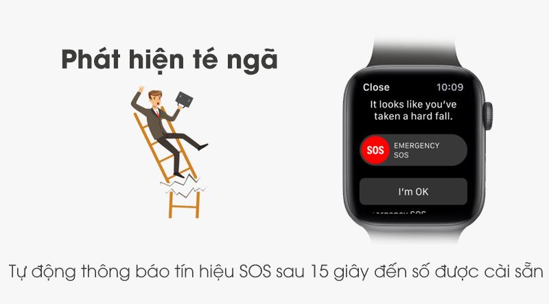 Apple Watch S5 phát hiện té ngã