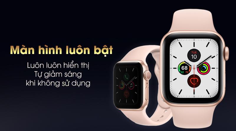 Apple Watch S5 luôn luôn hiển thị