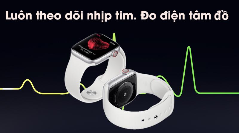 Apple Watch S5 luôn theo dõi nhịp tim