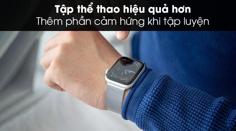 Apple Watch S5 LTE 44mm viền thép dây thép trao nguồn cảm hứng tập luyện thể thao