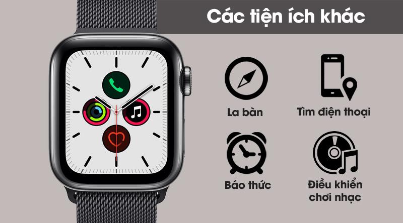 Apple Watch S5 LTE 44mm viền thép dây thép gồm rất nhiều tiện ích khác