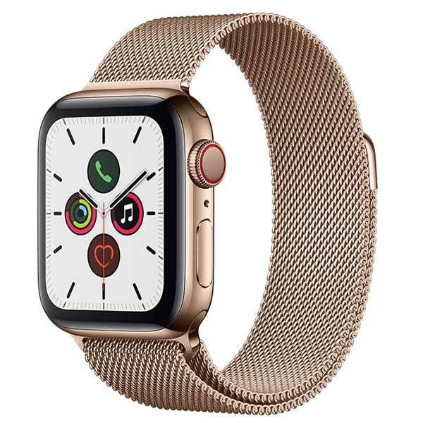 Apple Watch S5 LTE 44mm viền thép dây thép