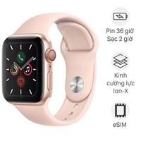 Apple Watch S5 LTE 44mm viền nhôm dây cao su hồng