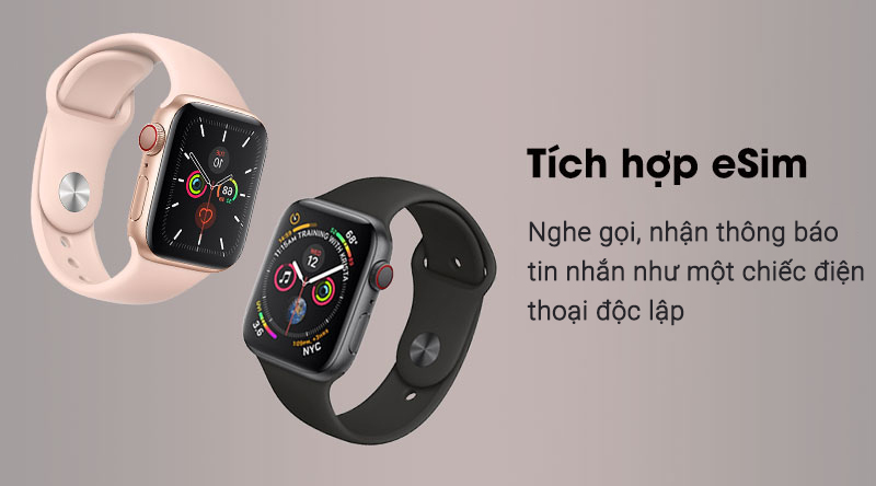 Apple Watch S5 LTE 44mm với tính năng eSim