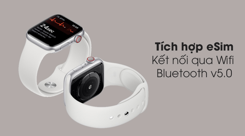 Apple Watch S5 LTE 40mm viền nhôm dây cao su tích hợp eSim
