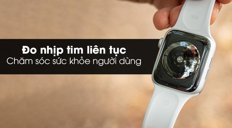 Apple Watch S5 LTE 40mm viền nhôm dây cao su đo nhịp tim liên tục