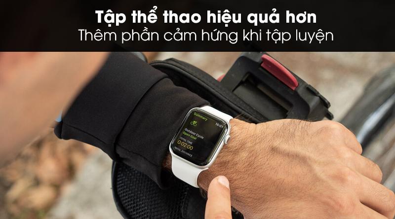 Apple Watch S5 LTE 40mm viền nhôm dây cao su giúp cho việc tập thể thao hiệu quả