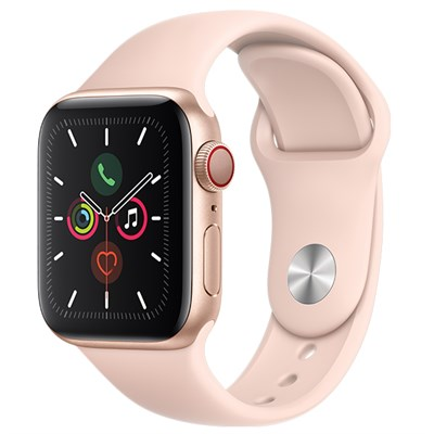 Apple Watch S5 LTE 40mm viền nhôm dây cao su hồng