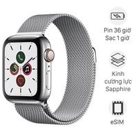 Apple Watch S5 LTE 40mm viền thép dây thép bạc