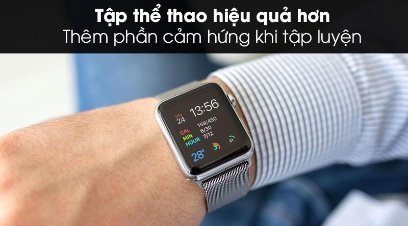 Apple Watch S5 LTE 40mm viền thép dây thép khuyến khích tập luyện thể thao nhiều hơn