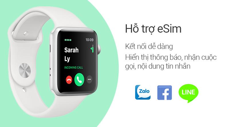 Đồng hồ thông minh Apple Watch S3 LTE hỗ trợ eSim