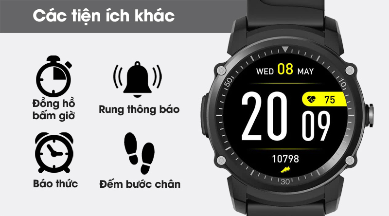 Đồng hồ thông minh BeU KW09 trang bị thêm nhiều tính năng khác