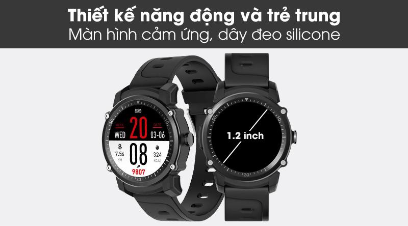 Đồng hồ thông minh BeU KW09 với kiểu dáng năng động, thời trang