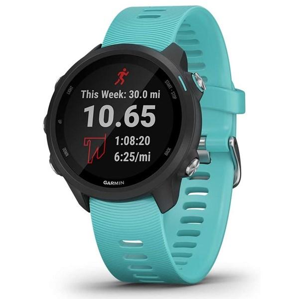 Đồng hồ thông minh Garmin Forerunner 245 Music dây silicone xanh