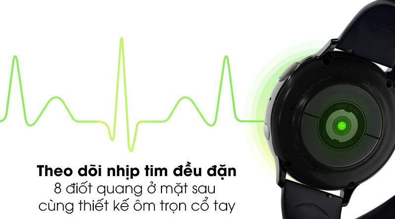 Đồng hồ thông minh Samsung Galaxy Watch Active 2 40mm viền nhôm dây silicone đen hỗ trợ theo dõi nhịp tim