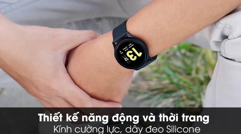Đồng hồ thông minh Samsung Galaxy Watch Active 2 40mm viền nhôm dây silicone đen với thiết kế năng động, thể thao