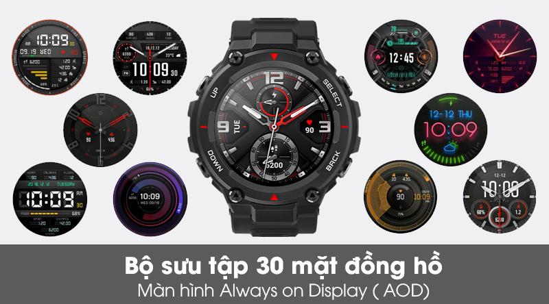 Đồng hồ thông minh Huami Amazfit T-Rex có 30 mặt đồng hồ phong cách, màn hình Always on Display