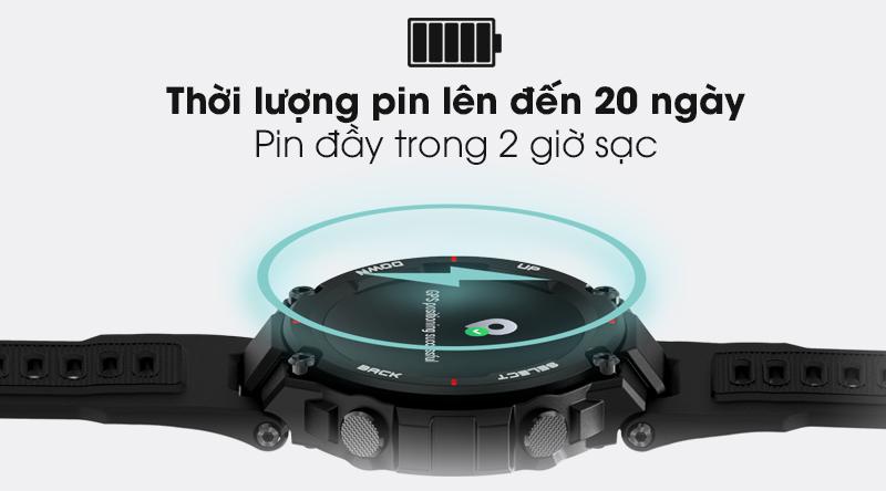 Đồng hồ thông minh Huami Amazfit T-Rex trang bị pin thời lượng lâu dài