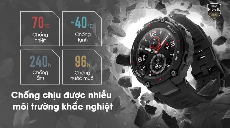 Đồng hồ thông minh Huami Amazfit T-Rex có khả năng chống chịu nhiều môi trường khắc nghiệt
