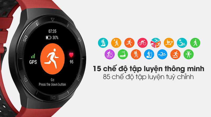 Đồng hồ thông minh Huawei Watch GT 2e 46mm dây silicone có 15 chế độ tập luyện thể thao