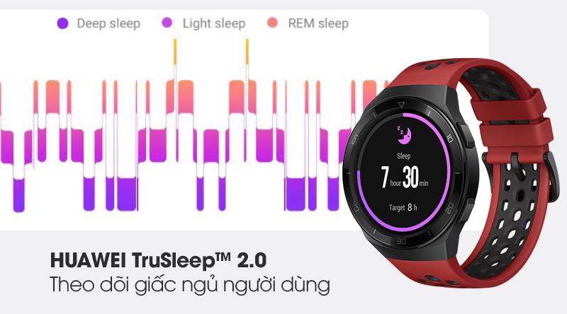 Đồng hồ thông minh Huawei Watch GT 2E 46mm dây silicone với tiện ích sức khoẻ theo dõi giấc ngủ