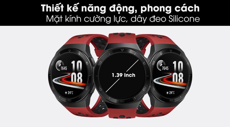 Đồng hồ thông minh Huawei Watch GT 2E 46mm dây silicone thiết kế năng động và thể thao