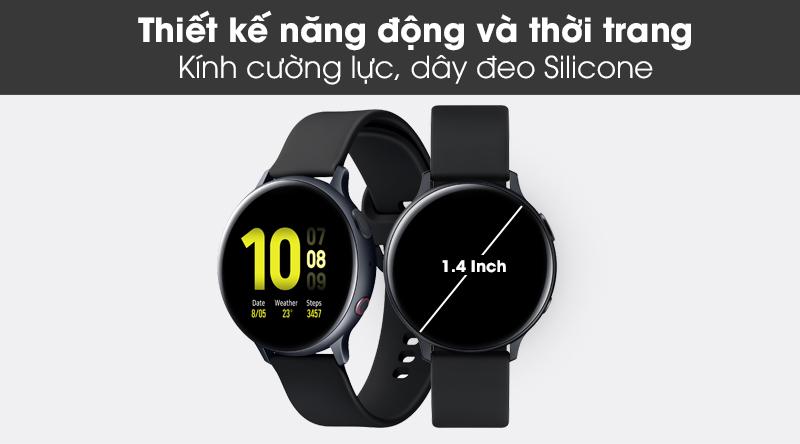 Đồng hồ thông minh Samsung Galaxy Watch Active 2 LTE 44mm viền nhôm dây sillicone với thiết kế năng động, hợp thời trang