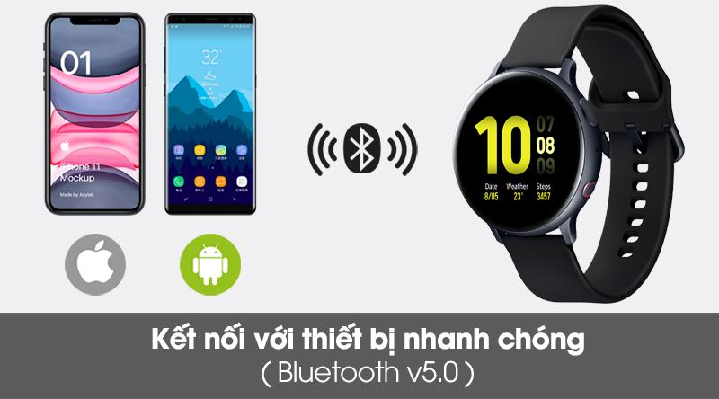 Đồng hồ thông minh Samsung Galaxy Watch Active 2 LTE 44mm viền nhôm dây sillicone kết nối các thiết bị qua sóng Bluetootth