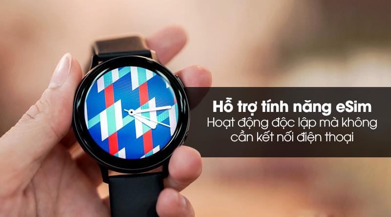 Đồng hồ thông minh Samsung Galaxy Watch Active 2 LTE 44mm viền nhôm dây sillicone với tính năng eSim tiện ích