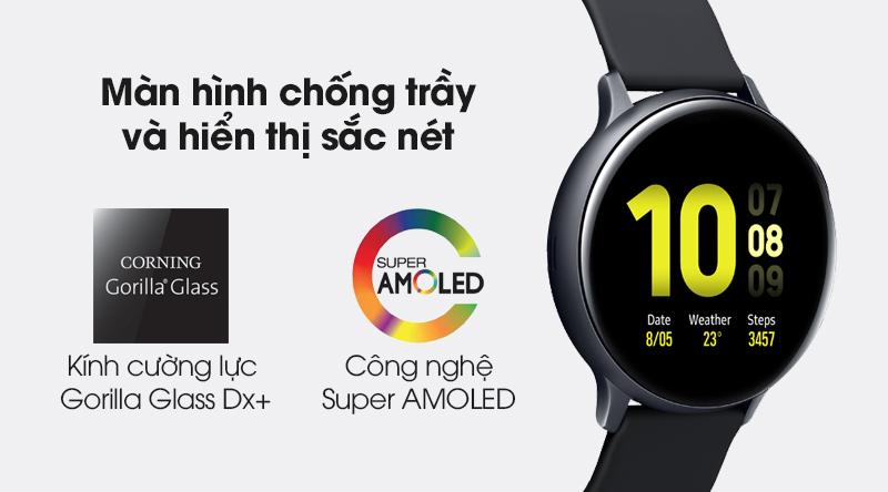 Đồng hồ thông minh Samsung Galaxy Watch Active 2 LTE 44mm viền nhôm dây sillicone cùng với mặt kính cường lực và màn hình sắc nét