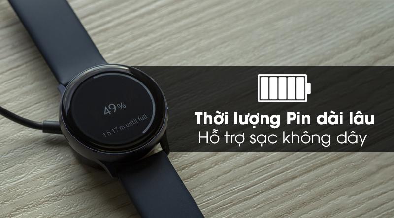 Đồng hồ thông minh Samsung Galaxy Watch Active 2 LTE 44mm viền nhôm dây sillicone với lượng Pin hơn 2 ngày sử dụng