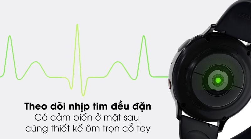 Đồng hồ thông minh Samsung Galaxy Watch Active 2 LTE 44mm viền nhôm dây sillicone với tính năng đo nhịp tim liên tục