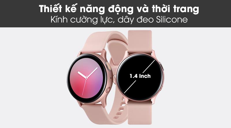 Đồng hồ thông minh Samsung Galaxy Watch Active 2 LTE 40mm viền nhôm dây silicone với thiết kế trẻ trung và năng động