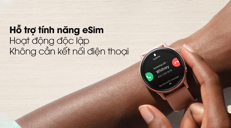 Đồng hồ thông minh Samsung Galaxy Watch Active 2 LTE 40mm viền nhôm dây silicone cùng tính năng eSim cực kì tiện lợi