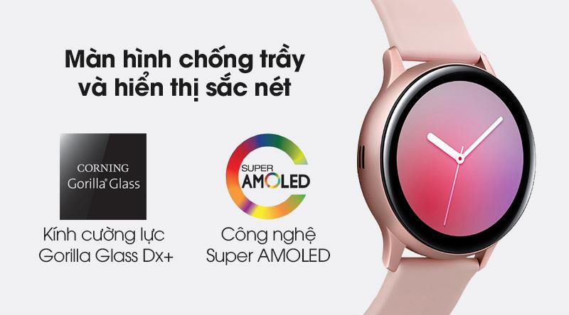 Đồng hồ thông minh Samsung Galaxy Watch Active 2 LTE 40mm viền nhôm dây silicone trang bị màn hình sắc nét và mặt kính cường lực