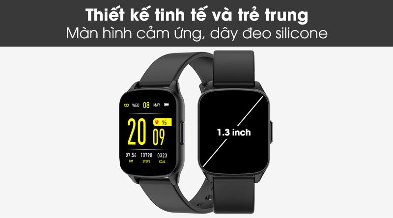 Đồng hồ thông minh BeU Fit KW17 đen có thiết kế năng động, trẻ trung