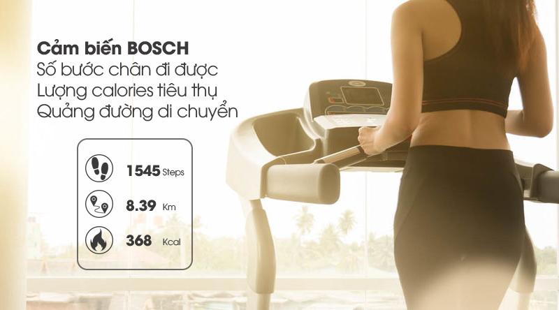 Đồng hồ thông minh BeU Fit KW17 đen trang bị cảm biến BOSCH