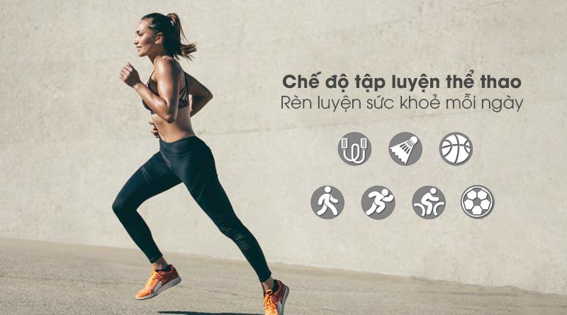 Đồng hồ thông minh BeU Fit KW19 hồng với nhiều bài tập luyện thể thao