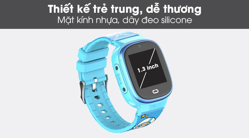 Đồng hồ thông minh trẻ em Kidcare 08S với thiết kế màu sắc, dây đeo êm tay cho bé