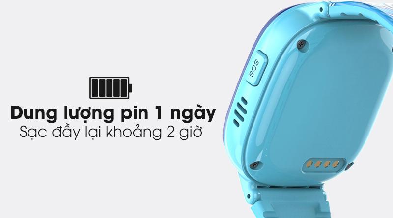 Đồng hồ thông minh trẻ em Kidcare 08S có dung lượng pin sử dụng 1 ngày