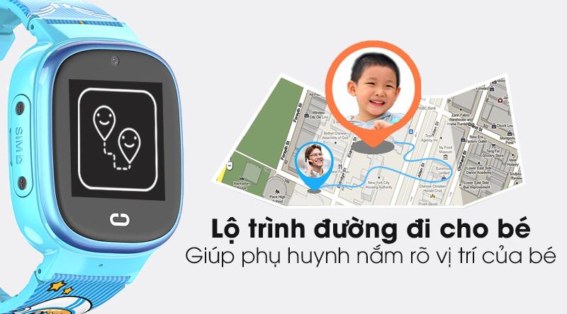 Đồng hồ thông minh trẻ em Kidcare 08S có tính năng thiết lập lộ trình đi cho bé