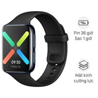 Oppo Watch 46mm dây silicone đen
