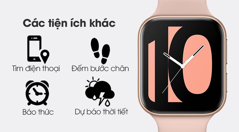 Đồng hồ Oppo Watch 41mm dây silicone hồng còn rất nhiều tính năng tiện ích khác