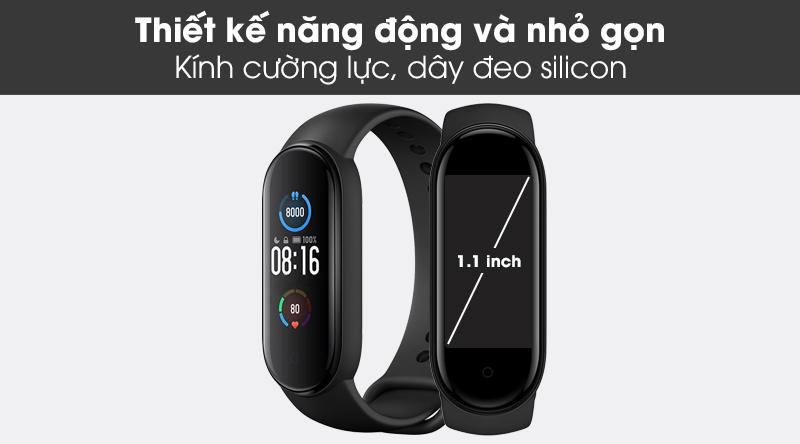 Vòng đeo tay thông minh Mi Band 5 mang thiết kế nhỏ gọn và thể thao