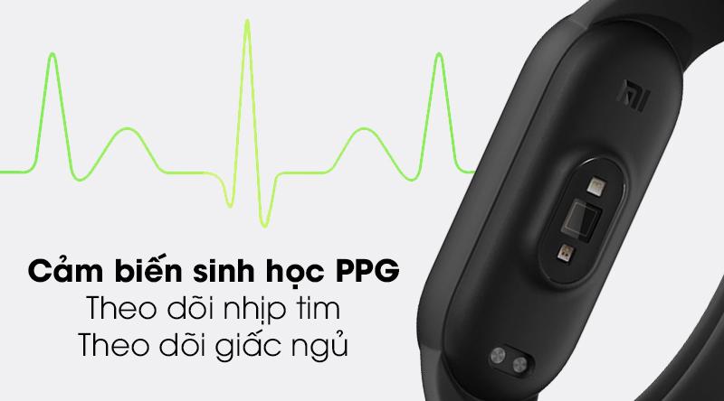 Vòng đeo tay thông minh Mi Band 5 sử dụng cảm biến sinh học PPG thế hệ mới