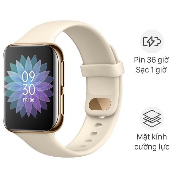 Oppo Watch 46mm dây silicone vàng đồng