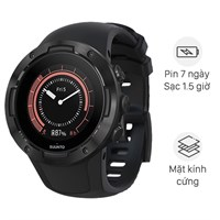 Đồng hồ thông minh Suunto 5 dây silicone đen
