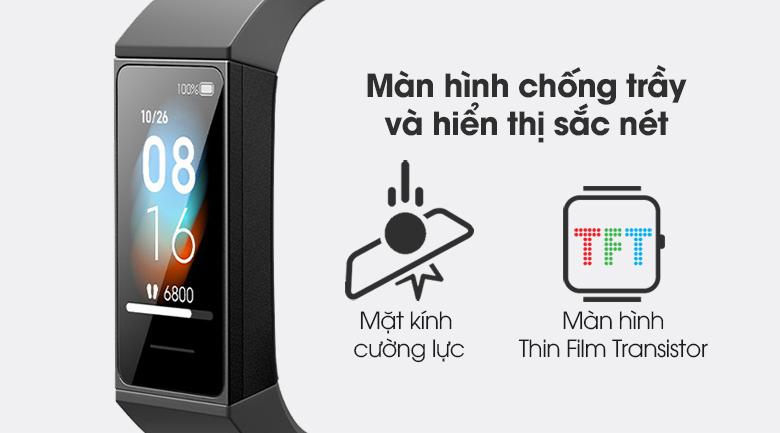 Vòng đeo tay thông minh Mi Band 4C với màn hình TFT hiển thị sắc nét
