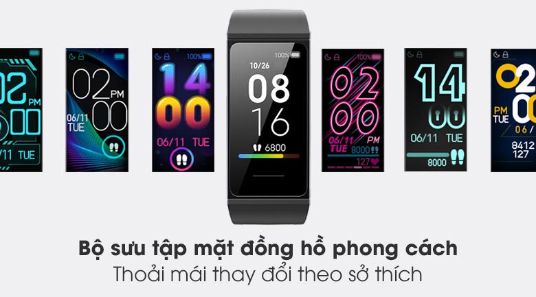 Vòng đeo tay thông minh Mi Band 4C tích hợp rất nhiều mặt đồng hồ phong cách