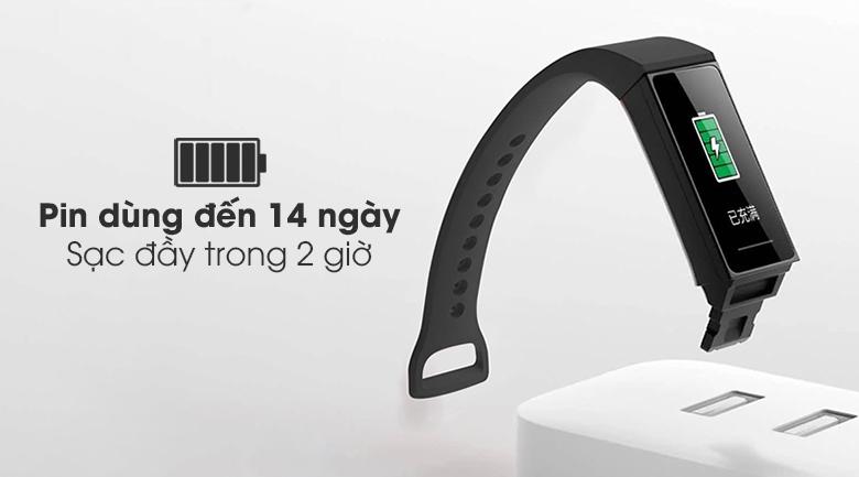Vòng đeo tay thông minh Mi Band 4C cho phép người đeo dùng thoải mái trong 14 ngày
